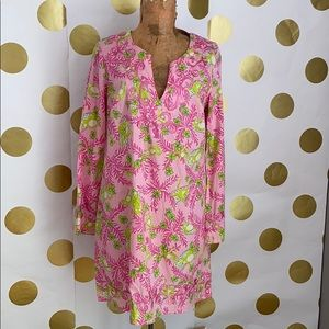Lilly Pulitzer Embroidered Shift Dress Monkeys